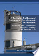 12th Envibuild    Buildings and Environment    From Research to Application Book