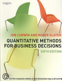 Quantitative Methods for Business Decisions