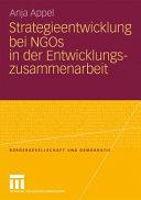 Strategieentwicklung bei NGOs in der Entwicklungszusammenarbeit