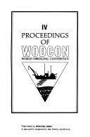 Proceedings of WODCON World Dredging Conference