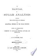 A Manual Of Sugar Analysis Book PDF