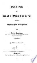 Geschichte der Stadt Münstereifel und der nachbarlichen Ortschaften