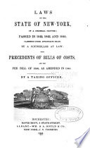 Laws of the State of New York  of a General Nature