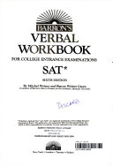 Barron S Verbal Workbook For College Entrance Examinations Sat  Book PDF