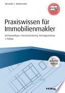 Öffnen Sie das Medium Praxiswissen für Immobilienmakler von Blankenstein, Alexander C. im Bibliothekskatalog