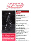 Journal Of Physical Education  Recreation   Dance