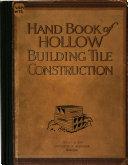 Handbook of Hollow Building Tile Construction