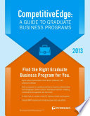Competitiveedge A Guide To Business Programs 2013