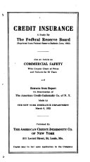 Credit Insurance  a Study by the Federal Reserve Board