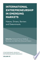 International Entrepreneurship in Emerging Markets Book