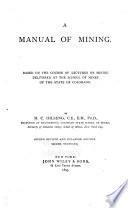 A Manual Of Mining Book PDF