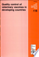 Quality Control of Veterinary Vaccines in Developing Countries