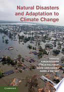 Natural Disasters and Adaptation to Climate Change Book