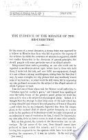 The Evidence of the Miracle of the Resurrection   By Thomas H  Huxley  A Paper Read Before the Metaphysical Society