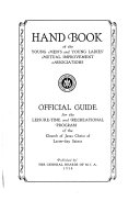 Hand Book of the Young Men's and Young Ladies' Mutual Improvement Associations