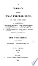 author of essay on human understanding