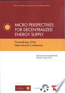 Micro Perspectives for Decentralized Energy Supply
