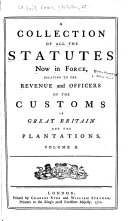 Pdf A Collection of All the Statutes Now in Force