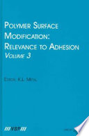 Polymer Surface Modification  Relevance to Adhesion Book