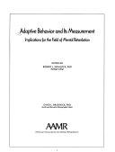 Adaptive Behavior and Its Measurement