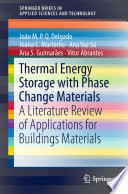 Thermal Energy Storage with Phase Change Materials
