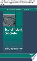 Eco efficient concrete