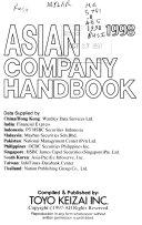 Asian Company Handbook Book