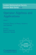 Operator Algebras and Applications  Volume 1  Structure Theory  K theory  Geometry and Topology