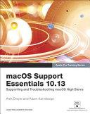 Macos Support Essentials 10 13   Apple Pro Training Series