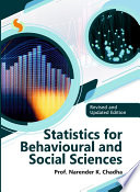 Statistics for Behavioural and Social Sciences  Revised and Updated Edition