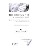 Konjunkturstatistik im produzierenden Bereich