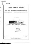 Annual Report on the First Stop Business Information Center