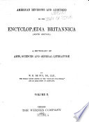 American Revisions And Additions To The Encyclopedia Britannica