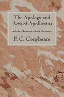 Pdf The Apology and Acts of Apollonius Telecharger