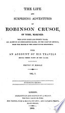 The Life and Surprising Adventures of Robinson Crusoe     Stereotype edition Book