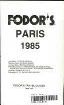 Fodor s Paris  1985