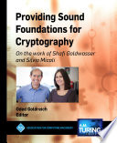Providing Sound Foundations for Cryptography