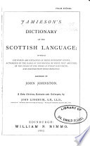 Jamieson s Dictionary of the Scottish Language Book