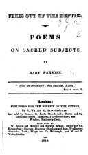 Cries out of the Depths. Poems on sacred subjects
