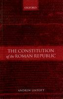 The Constitution of the Roman Republic Book