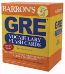 Barron s GRE Vocabulary Flash Cards