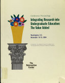 Integrating Research Into Undergraduate Education