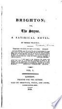 Brighton  Or  The Steyne Book