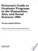 Peterson's Graduate Programs in the Humanities, Arts & Social Sciences