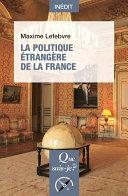La politique étrangère de la France Pdf/ePub eBook