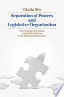 Separation of Powers and Legislative Organization Book