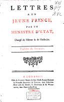 Lettres à un jeune prince