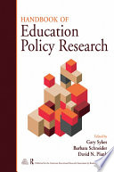 """Handbook of Education Policy Research"" by Gary Sykes, Barbara Schneider, David N. Plank"