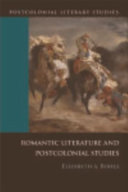 Romantic Literature and Postcolonial Studies