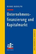 Unternehmensfinanzierung und Kapitalmarkt